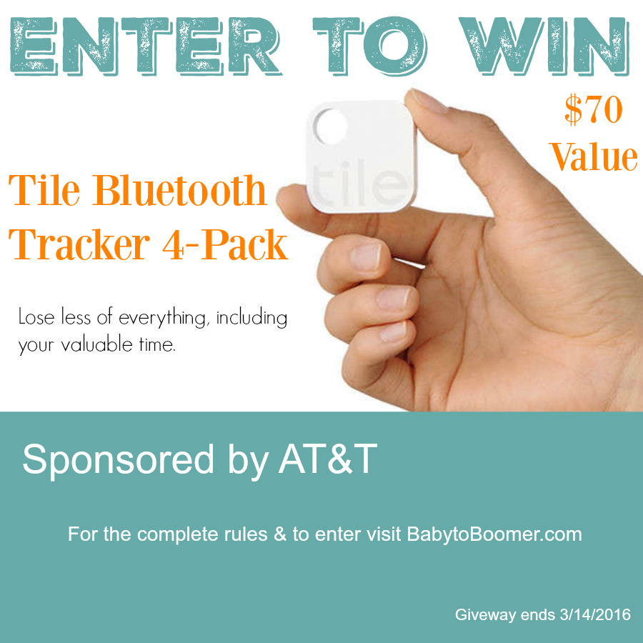 Tile Bluetooth Tracker Giveaway