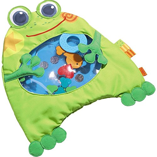 Named the Best Baby Toy of 2015 by American Baby Magazine, this friendly frog from HABA will keep little ones entertained for a long time. When parents fill the frog's belly with distilled water, children can touch it and make the fun shapes move around. If tummy time gets messy, like it sometimes does, the quality-stitched polyester fabric is removable and machine washable, making clean up a breeze. Age Range: 6+ months