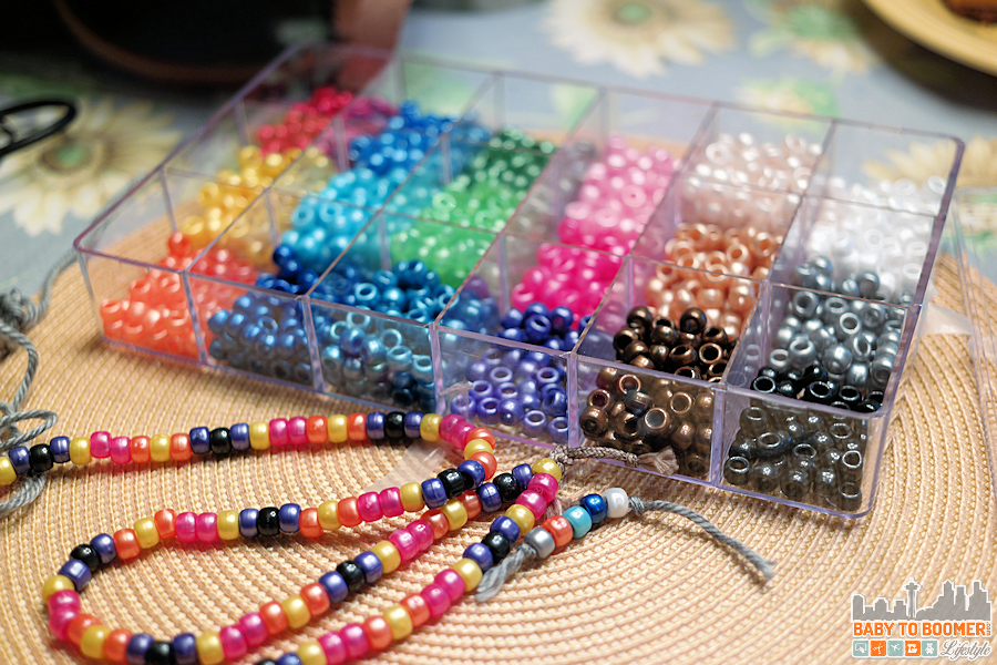 Inexpensive Kids Crafts - Strung necklaces with Beadery Bead Extravaganza Bead Box Kit, 19.75-Ounce, Pearl Beadery Bead Extravaganza Bead Box Kit, 19.75-Ounce, Pearl