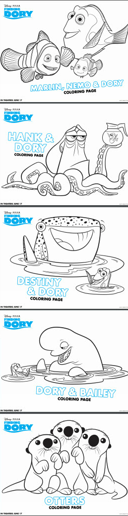 Finding Dory Coloring Pages - Characters
