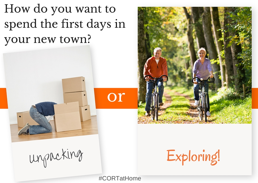 How Do You Want to Spend the First Days in Your New Town #CORTatHome @CORTFurniture #ad