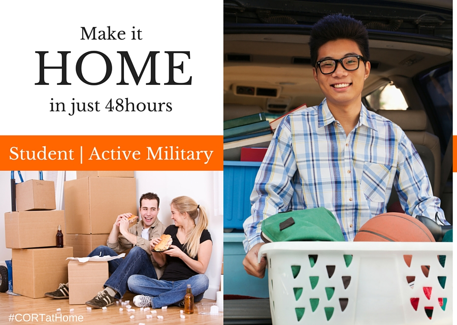 Student Active Military Discounted Furniture Rental - Make it Home #CORTatHome @CORTFurniture #ad