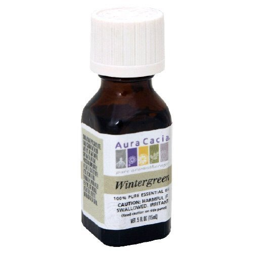 Aura Cacia Wintergreen 100% Pure Essential Oil - 0.5 oz Another of my favorite scents. It's bright, clean, and is a great additive to homemade cleaning solutions or wake-me up pillow spray.