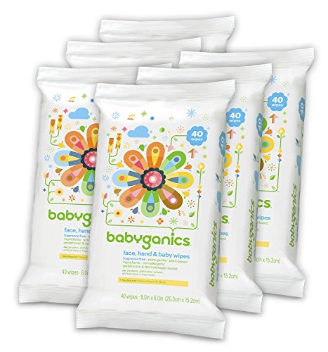 Natural Remedies For Cold and Flu Season - Babyganics Baby Wipes - All Natural - rated non-toxic by the EWG