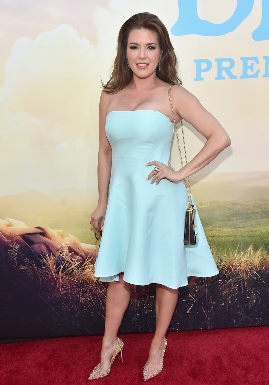 "HOLLYWOOD, CA - JUNE 21: Actress Alicia Machado arrives on the red carpet for the US premiere of Disney's ""The BFG,"" directed and produced by Steven Spielberg. A giant sized crowd lined the streets of Hollywood Boulevard to see stars arrive at the El Capitan Theatre. ""The BFG"" opens in U.S. theaters on July 1, 2016, the year that marks the 100th anniversary of Dahl's birth, at the El Capitan Theatre on June 21, 2016 in Hollywood, California. (Photo by Alberto E. Rodriguez/Getty Images for Disney) #TheBFGEvent"