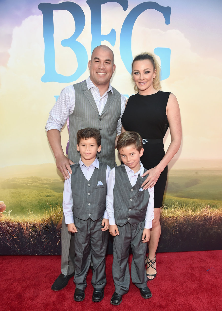 "Tito Ortiz and family arrive on the red carpet for the US premiere of Disney's ""The BFG,"" directed and produced by Steven Spielberg. A giant sized crowd lined the streets of Hollywood Boulevard to see stars arrive at the El Capitan Theatre. Photo by Jesse Grant/Getty Images for Disney #TheBFGEvent"