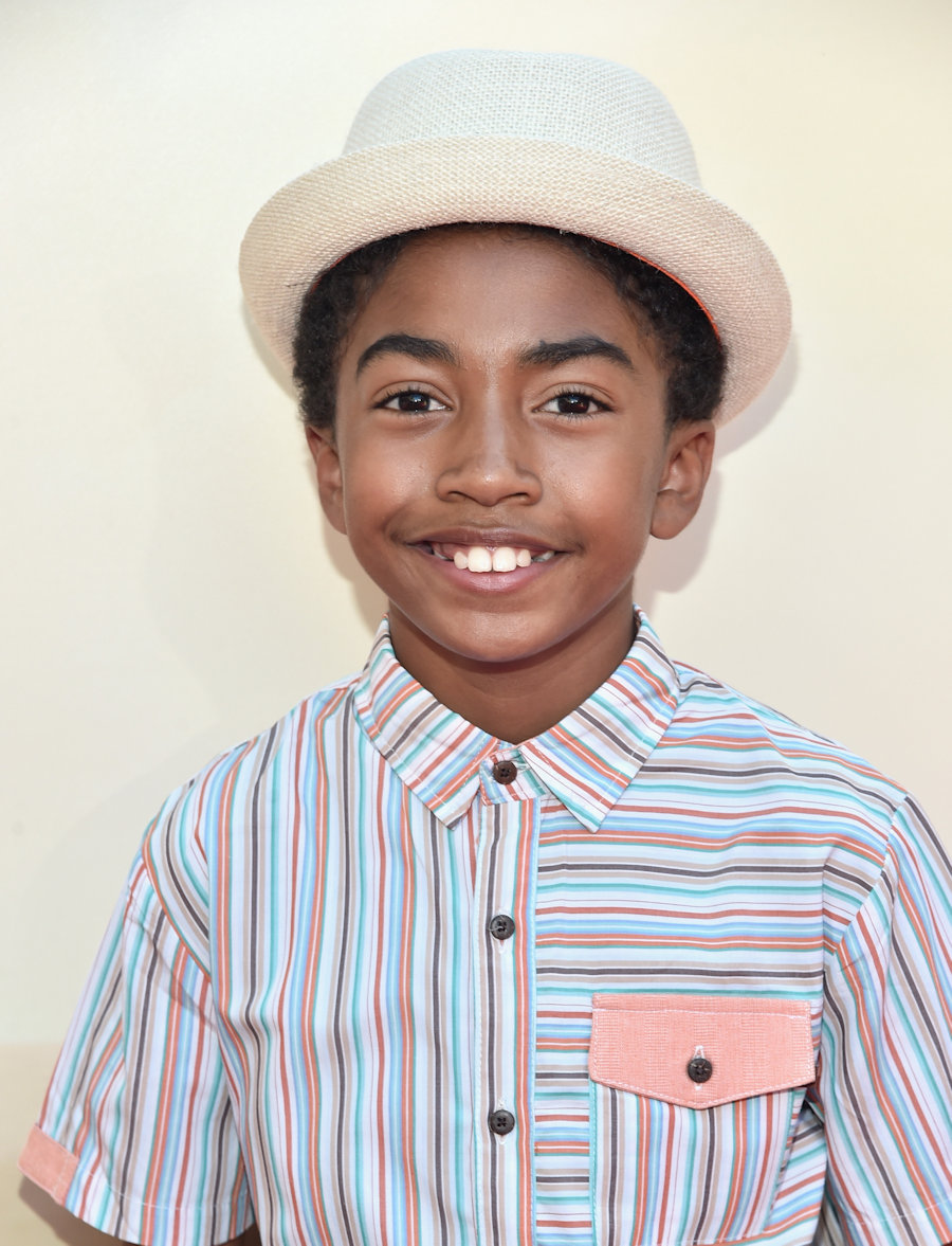 "HOLLYWOOD, CA - JUNE 21: Actor Miles Brown arrives on the red carpet for the US premiere of Disney's ""The BFG,"" directed and produced by Steven Spielberg. A giant sized crowd lined the streets of Hollywood Boulevard to see stars arrive at the El Capitan Theatre. ""The BFG"" opens in U.S. theaters on July 1, 2016, the year that marks the 100th anniversary of Dahl's birth, at the El Capitan Theatre on June 21, 2016 in Hollywood, California. (Photo by Alberto E. Rodriguez/Getty Images for Disney) *** Local Caption *** Miles Brown #TheBFGEvent"