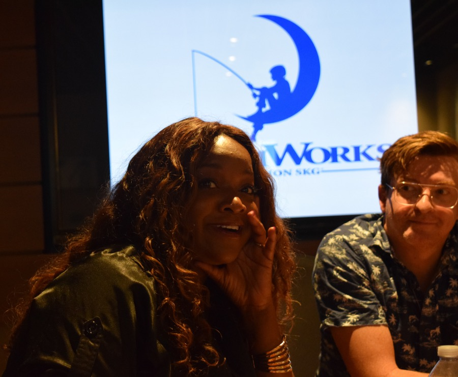 Having Fun With The Cast of Voltron #Voltron #DreamWorks Kimberly Brooks and Rhys Darby - Photo Credit: Joyce Duboise