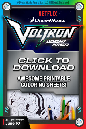 Free Downloadable Voltron Printable Coloring Pages