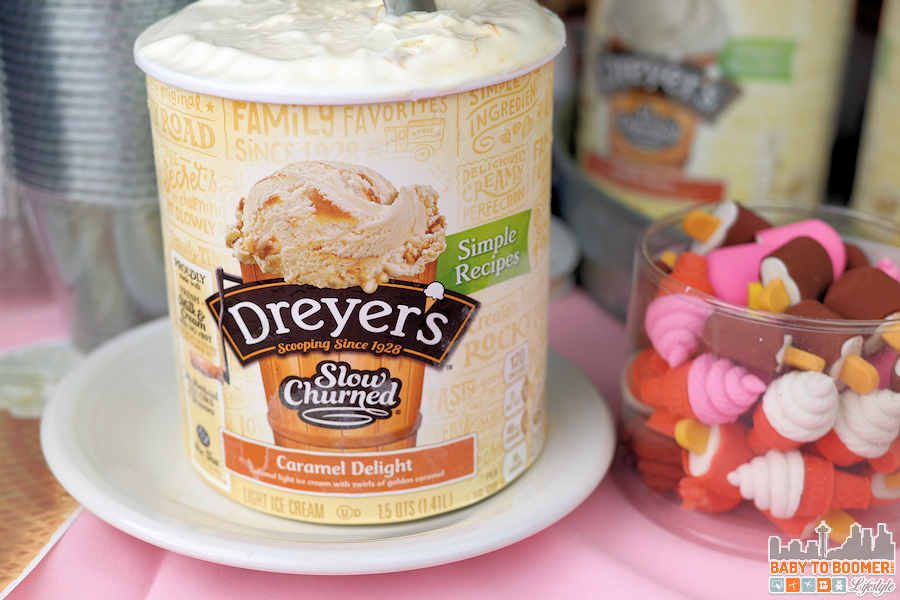 Dreyer's Caramel DeLight Ice Cream Treat - Ice Cream Social Printable Kit #SweeterTogether @dreyersicecream #ad #ic