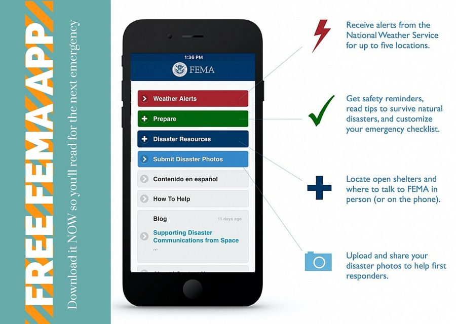 Free FEMA Smartphone App – Disaster Preparedness In Your Hand