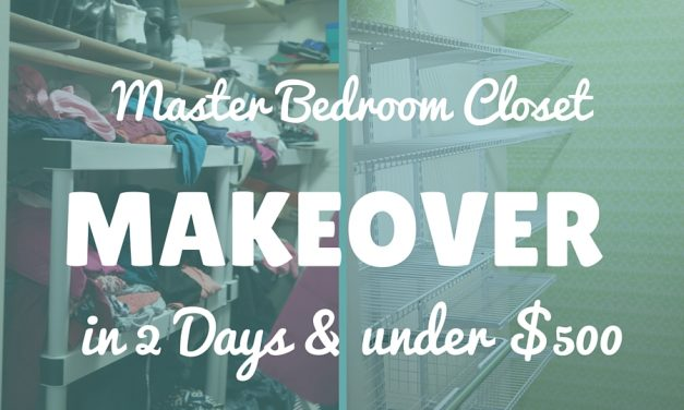Master Bedroom Closet Makeover: A Modern Update in 2 days