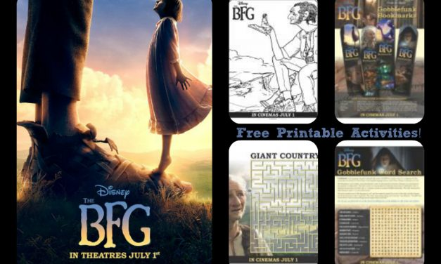 Disney's The BFG Movie Free Printable Activity Sheets #TheBFGEvent #TheBFGDreamSweepstakes