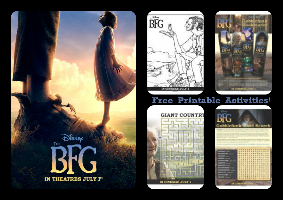 Disney's The BFG Free Printable Activity Sheets #TheBFGEvent