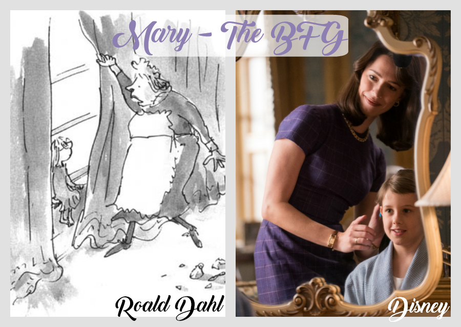 The BFG Mary - Dahl vs Disney Versions - (c) Dahl (c) Disney #TheBFGEvent ad