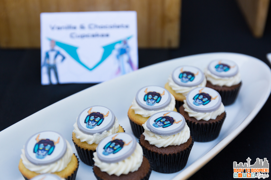 Voltron face cupcakes
