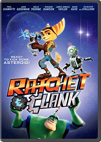 New August 2016 DVD & Blu-Ray Releases: Family-friendly Rated G, PG & PG-13 RATCHET & CLANK- Rated PG Starring James A. Taylor, Jim Ward, David Kaye, Paul Giamatti, John Goodman, Rosario Dawson, and Sylvester Stallone