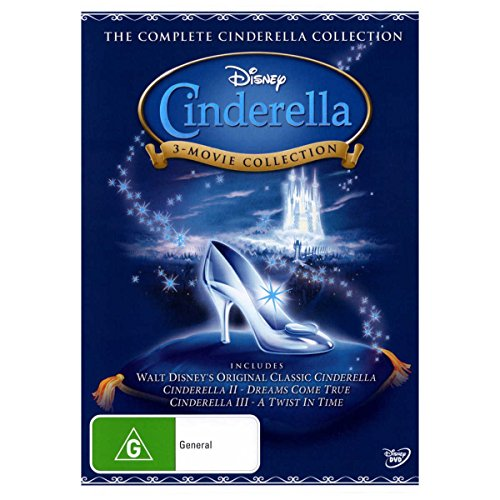 Complete Cinderella Collection - Disney 	Cinderella + Cinderella 2 + Cinderella 3 DVD  - Rated G