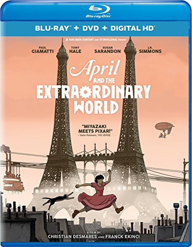New August 2016 DVD & Blu-Ray Releases: Family-friendly Rated G, PG & PG-13 April and the Extraordinary World - Rated PG
