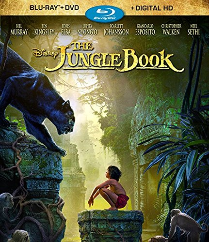 New August 2016 DVD & Blu-Ray Releases: Family-friendly Rated G, PG & PG-13 The Jungle Book - Rated PG Starring Neel Sethi, Idris Elba, Ben Kingsley, Bill Murray, Scarlett Johansson, Christopher Walken, Lupita Nyong'o, Giancarlo Esposito, Garry Shandling, and Jon Favreau