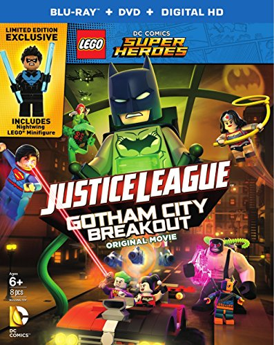 July 2016 DVD & Blu-ray Releases Family-Friendly Videos Rated G |PG|PG-13 - LEGO DC Comics Super Heroes Justice League Gotham City Breakout Original Movie