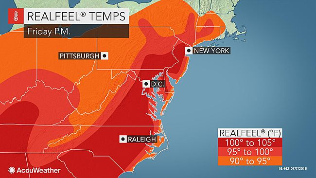 Accuweather RealFeelTemps for July 8