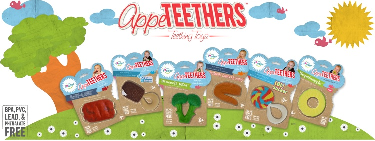 AppeTEETHERS - Fun Baby Teething Toys 4 Fun things to do with kids in summer ad