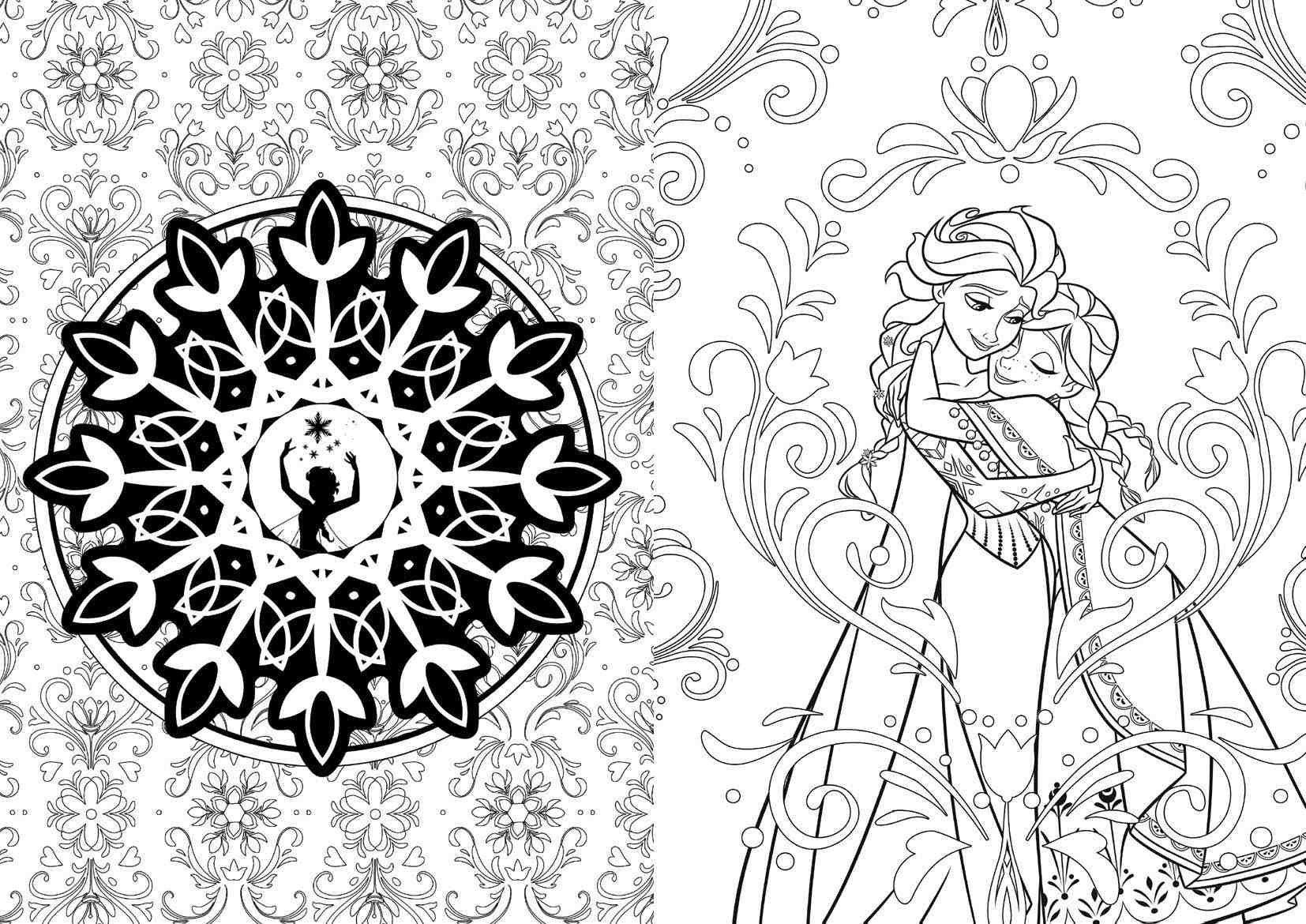 Art Of Coloring Disney FROZEN Sample Pages