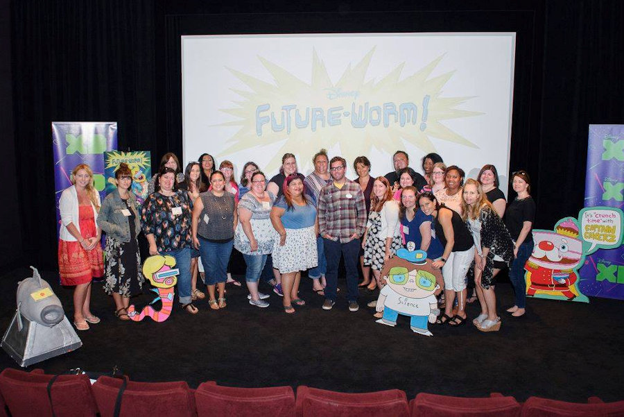 Disney XD Future-Worm! A new animated show from Ryan Quincy of South Park fame - Starting August 1, 2016 Photo Credit: Disney XD/Richard Harbaugh #TheBFGEvent #futureworm ad