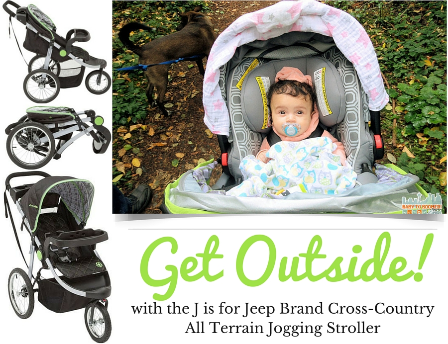 Get Outside J is for Jeep Brand Cross-Country All Terrain Jogging Stroller 4 Fun things to do with kids in summer ad