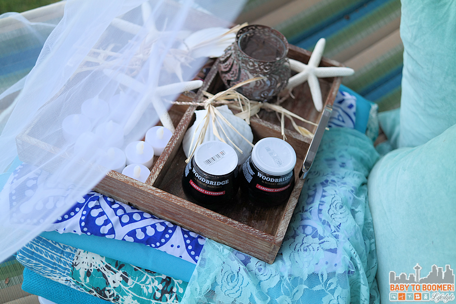 Msg 4 21+: Glamping Make Your Own Marker Lanterns #ShareWine #CollectiveBias #ad Backyard Glamping Setup