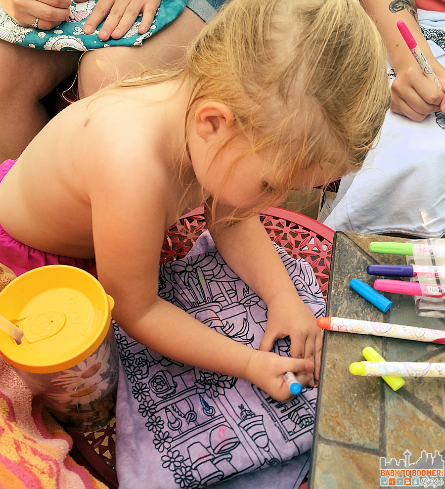 Colorwear Party - Kids Coloring Colorwear Tees - Create you own wearable art! #Colorwear #IC #Ad @Colorwear