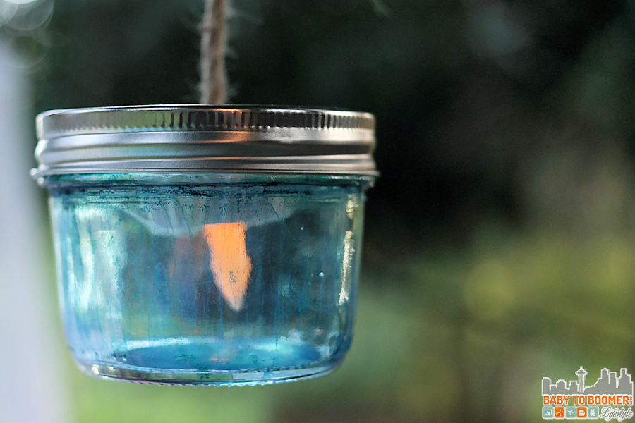 Msg 4 21+: Glamping Make Your Own Marker Lanterns #ShareWine #CollectiveBias #ad Drip Paint Lantern