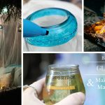 Backyard Glamping and DIY Glass Lantern Tutorial #ShareWine