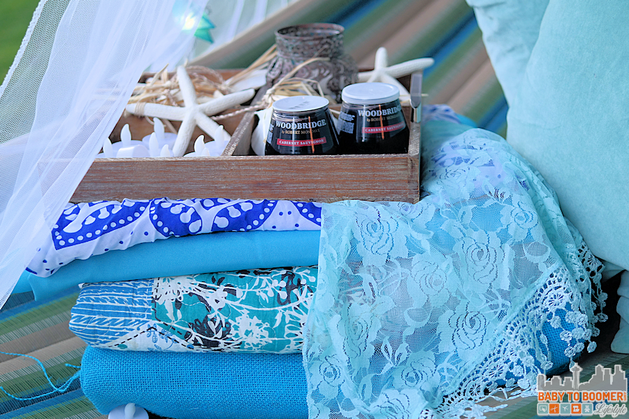 Msg 4 21+: Glamping Make Your Own Marker Lanterns #ShareWine #CollectiveBias #ad Glamping Setup
