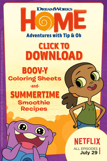 Boov-y Coloring Sheets & Recipes! #DreamWorks