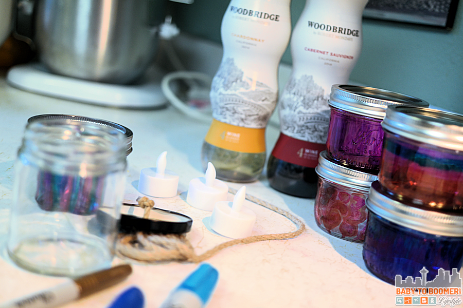 Msg 4 21+: Glamping Make Your Own Marker Lanterns #ShareWine #CollectiveBias #ad