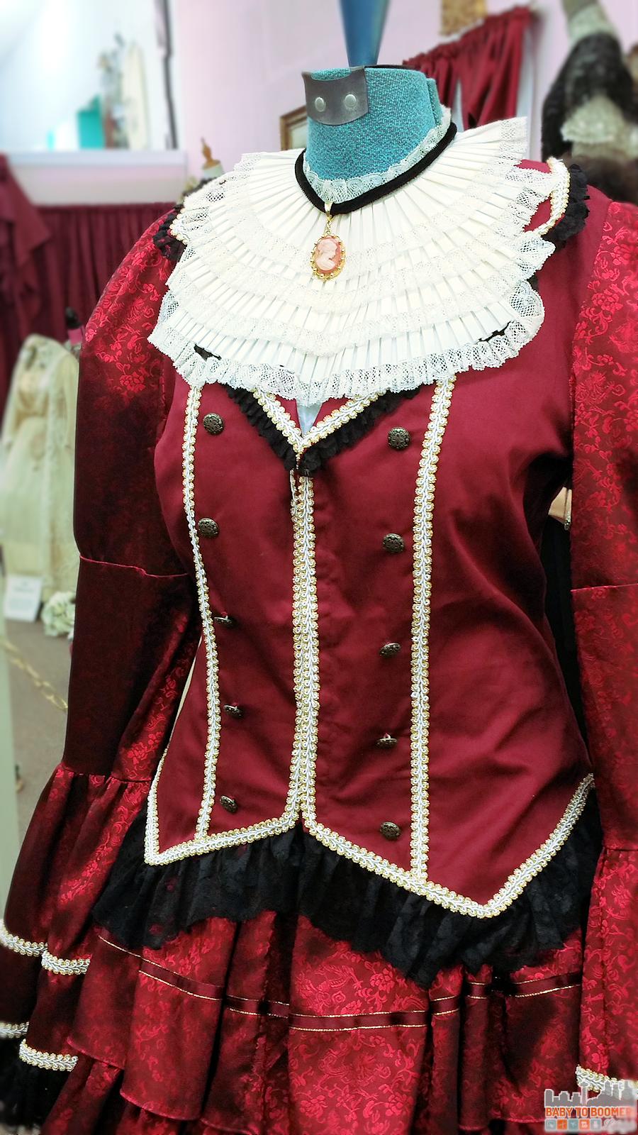 Victorian Bridal Museum Hemet CA Burgundy