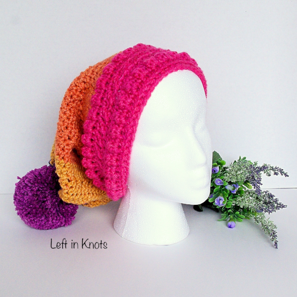 Free Hat Pattern by Left in Knots using Caron Cakes Funfetti Yarn b42aeab4849