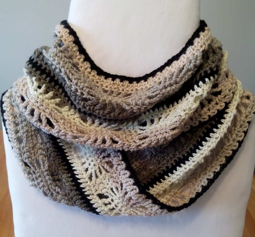 Adult Crochet Winter Spider Infinity Scarf Free Pattern in Caron Cakes ...