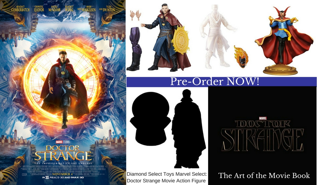 Doctor Strange Movie Pre-order figures, toys , books, and more plus new featurette