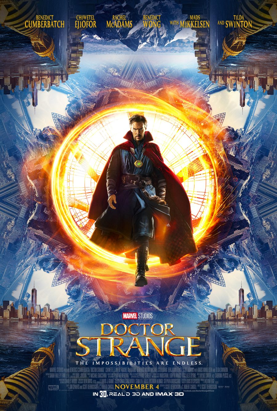 Marvel's Doctor Strange One Sheet Poster - In theaters 11/4/16