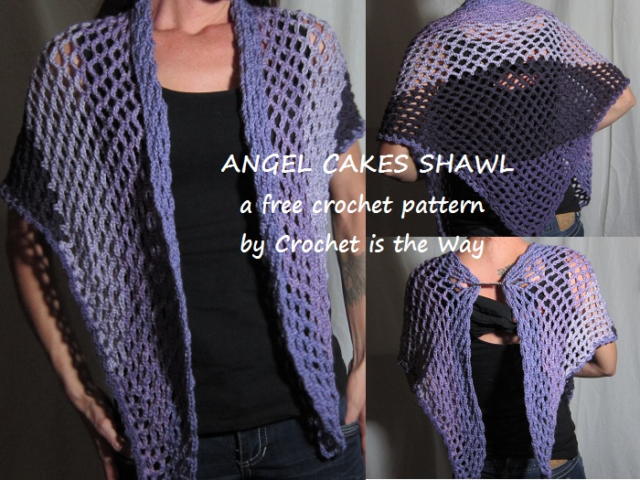 Free Adult Shawl Crochet Pattern by Crochet is the Way - Caron Cakes Bumbleberry Yarn
