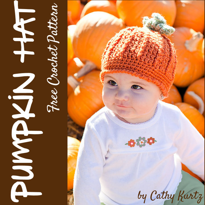Free Crochet Pattern - Pumpkin Harvest Hat by Cathy Kurtz (Ravelry download)