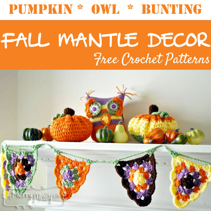 Free Crochet Pattern - Fall Mantle Decor