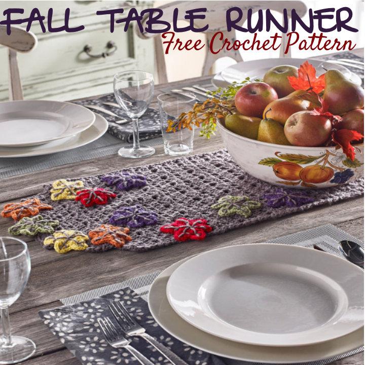 Free Fall Leaves Coaster Crochet Pattern