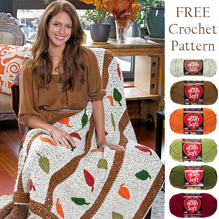 Free Fall Leaves Crochet Pattern