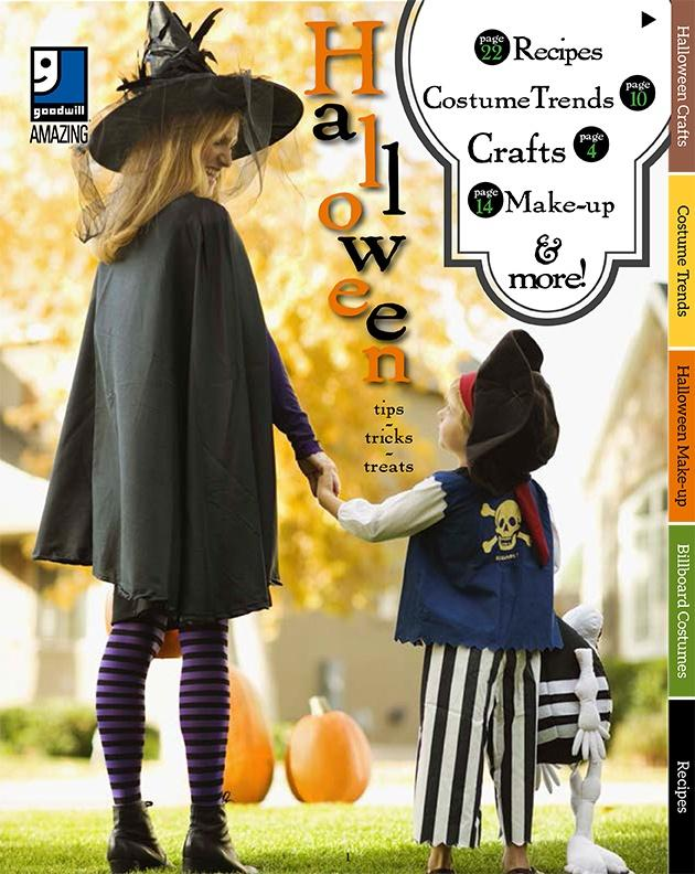 5 Ways to do Halloween on a Budget - Goodwill 2016 Holiday Guide - Recipes, Costume Trends, Crafts, Pumpkin Templates, Simple Costume Ideas for kids and adults