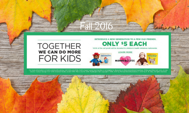 Kohl's Cares Fall 2016 Plush and Books Just $5 Each!