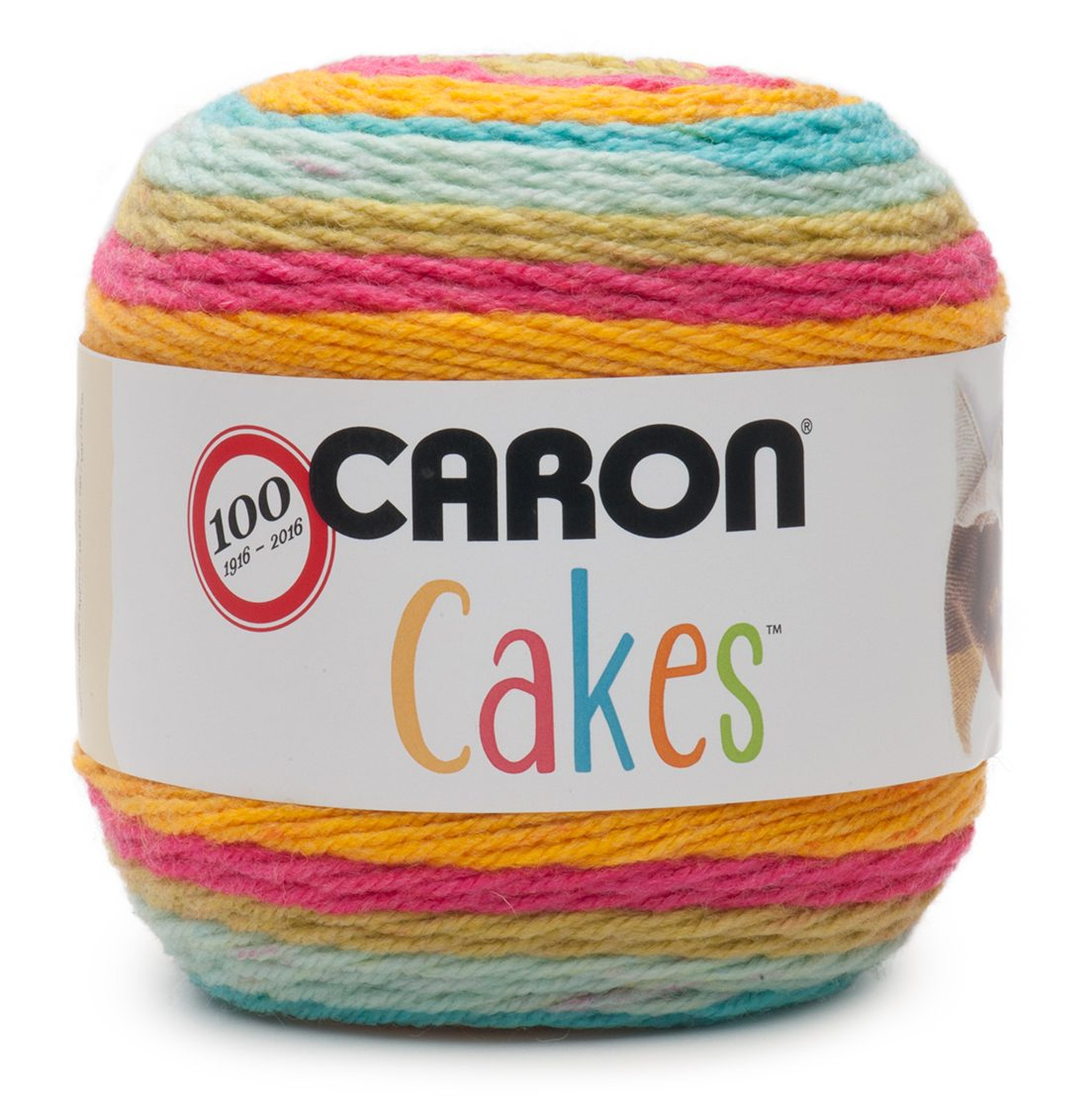 NEW Caron Cakes Rainbow Sherbet Yarn - one of 8 new colorways for 2017 plus free patterns featuring the original Caron Cakes colors